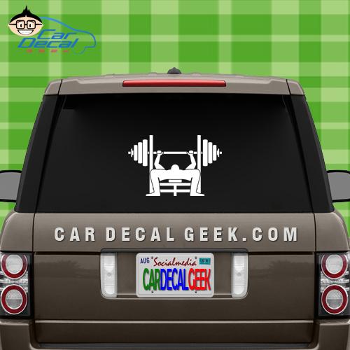 Bench Press Car Window Decal Sticker