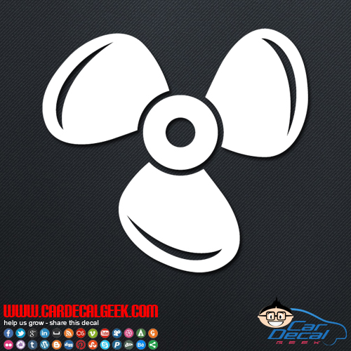 Boat Propeller Decal Sticker