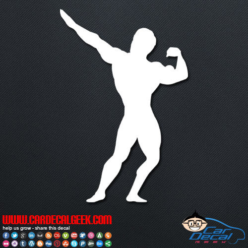 Bodybuilder Pose Decal Sticker