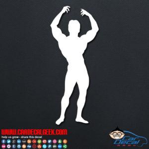 Bodybuilder Pose Decal Sticker