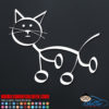 Cat Stick Figure Decal
