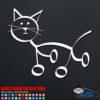 Cat Stick Figure Decal