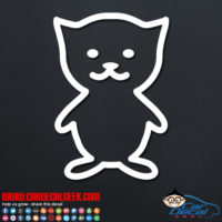 Kitty Cat Car Decal Sticker