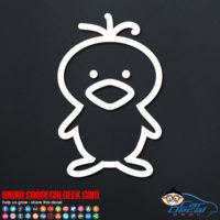 Cute Chick Decal Sticker