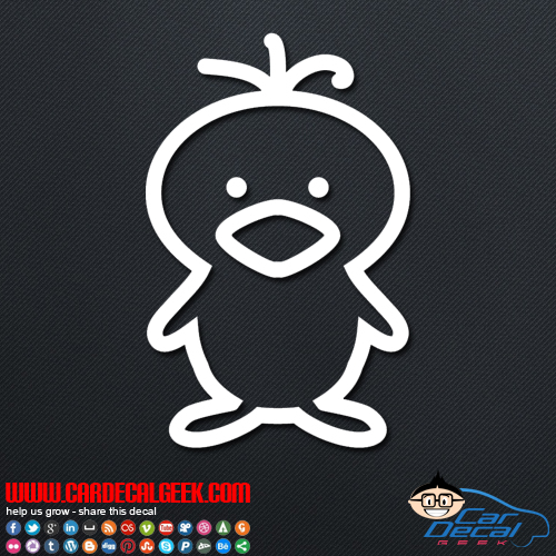 Cute Chick Decal Sticker