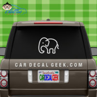 Elephant Outline Window Decal