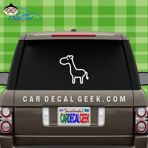 Cute Giraffe Window Sticker Decal