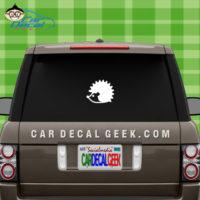 Hedgehog Car Window Sticker Decal