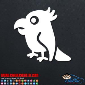 Cute Parrot Decal Sticker