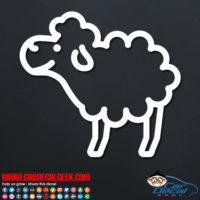 Cute Sheep Decal Sticker