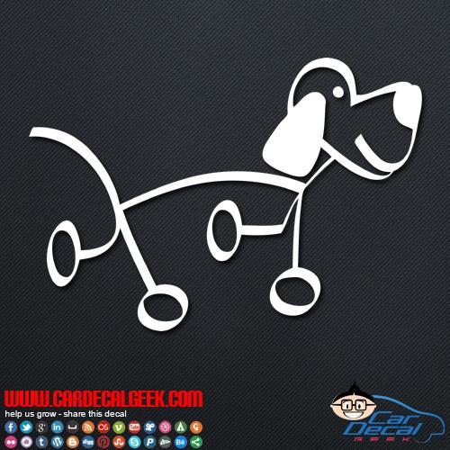 Dog Stick Figure Decal Sticker