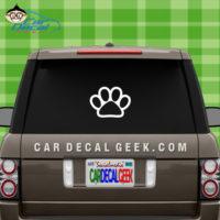 Dog Paw Car Window Decal