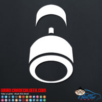 Dumbell Weight Decal