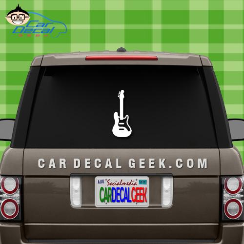 Electric Guitar Car Window Car Window Decal Sticker