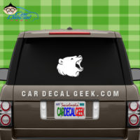 Bear Head Decal Sticker