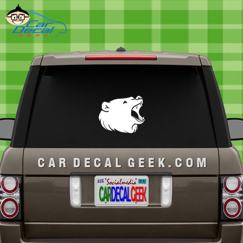 Bear Head Decal Sticker