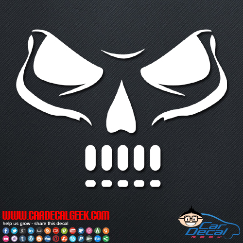 Fierce Skull Decal Sticker