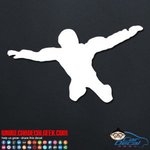 Free Falling Skydiver Decal Sticker