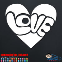 Groovy Love Heart Decal Sticker
