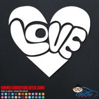 Groovy Love Heart Decal Sticker