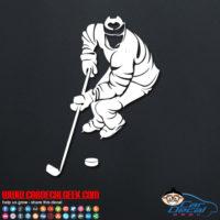 Hockey Player Decal Sticker