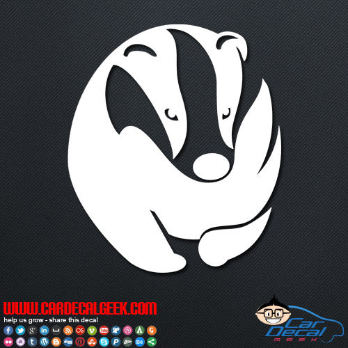 Honey Badger Decal Sticker