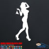 Hot Girl Decal Sticker