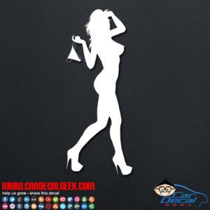 Hot Girl Decal Sticker