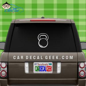 Kettlebell Car Window Decal Sticker