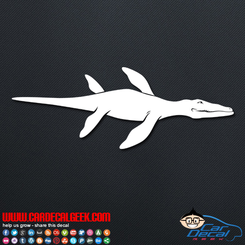 Liopleurodon Dinosaur Decal Sticker
