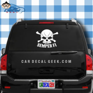 Marines Semper Fi Skull Car Window Decal Sticker