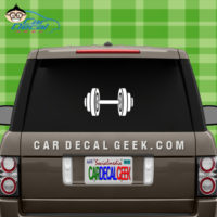 Dumbbell Muscle Car Window Sticker Decal