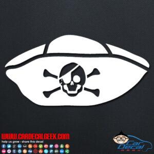 Pirate Hat Decal Sticker