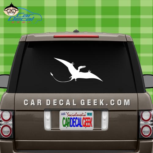 Pterodactyl Dinsoaur Vinyl Window Decal Sticker