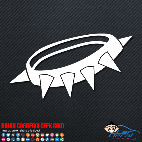 Punk Rock Spike Collar Decal Sticker