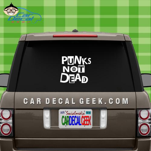 Puks Not Dead Car Window Decal Sticker