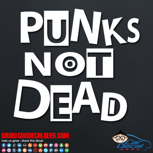 Puks Not Dead Decal Sticker