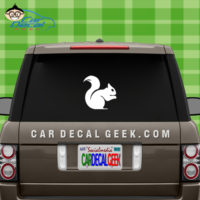 Squirrel Vinyl Car Decal Sticker