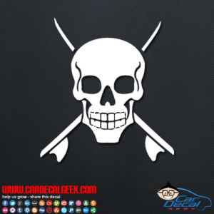 Sufing Skull Decal Sticker