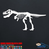 T Rex Skeleton Decal