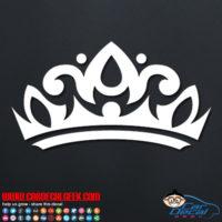 Tiara Crown Decal Sticker
