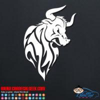 Tribal Bull Decal Sticker