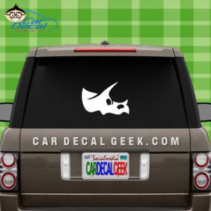Triceratops Dinosaur Skull Car Window Decal Sticker