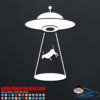 UFO Abduction Decal Sticker