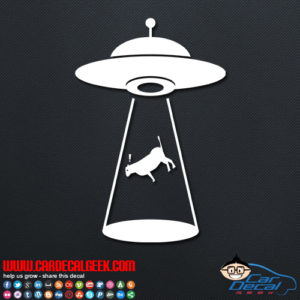 UFO Abduction Decal Sticker