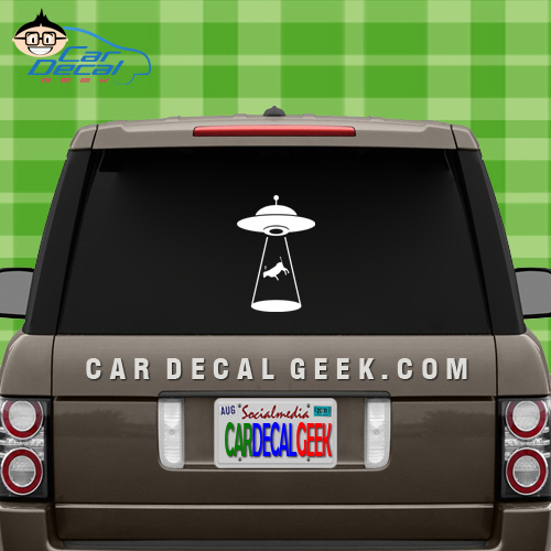 UFO Abduction Car Window Decal Sticker