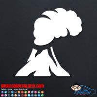 Volcano Decal Sticker