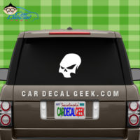 Wicked Skull Window Vinyl Decal Sticker