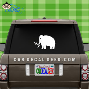 Woolly Mammoth Car Window Decal Sticker