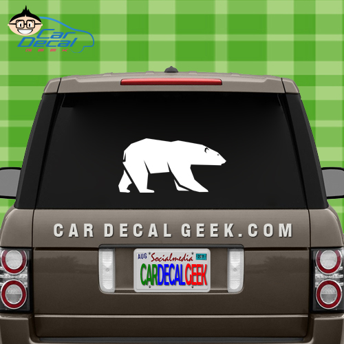 Polar Bear Vinyl Car Decal